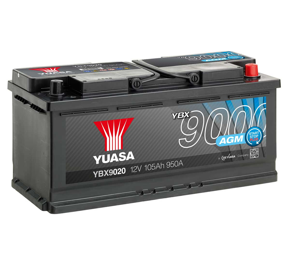 yuasa ybx9020 agm 12v car battery mds battery. Black Bedroom Furniture Sets. Home Design Ideas