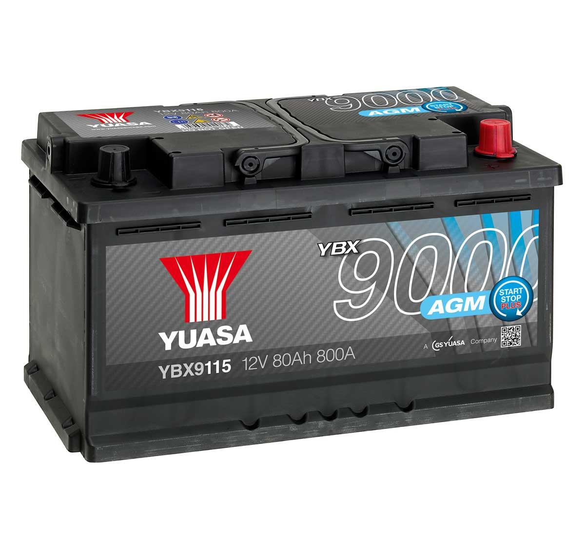 Yuasa YBX9115 AGM 12V Car Battery