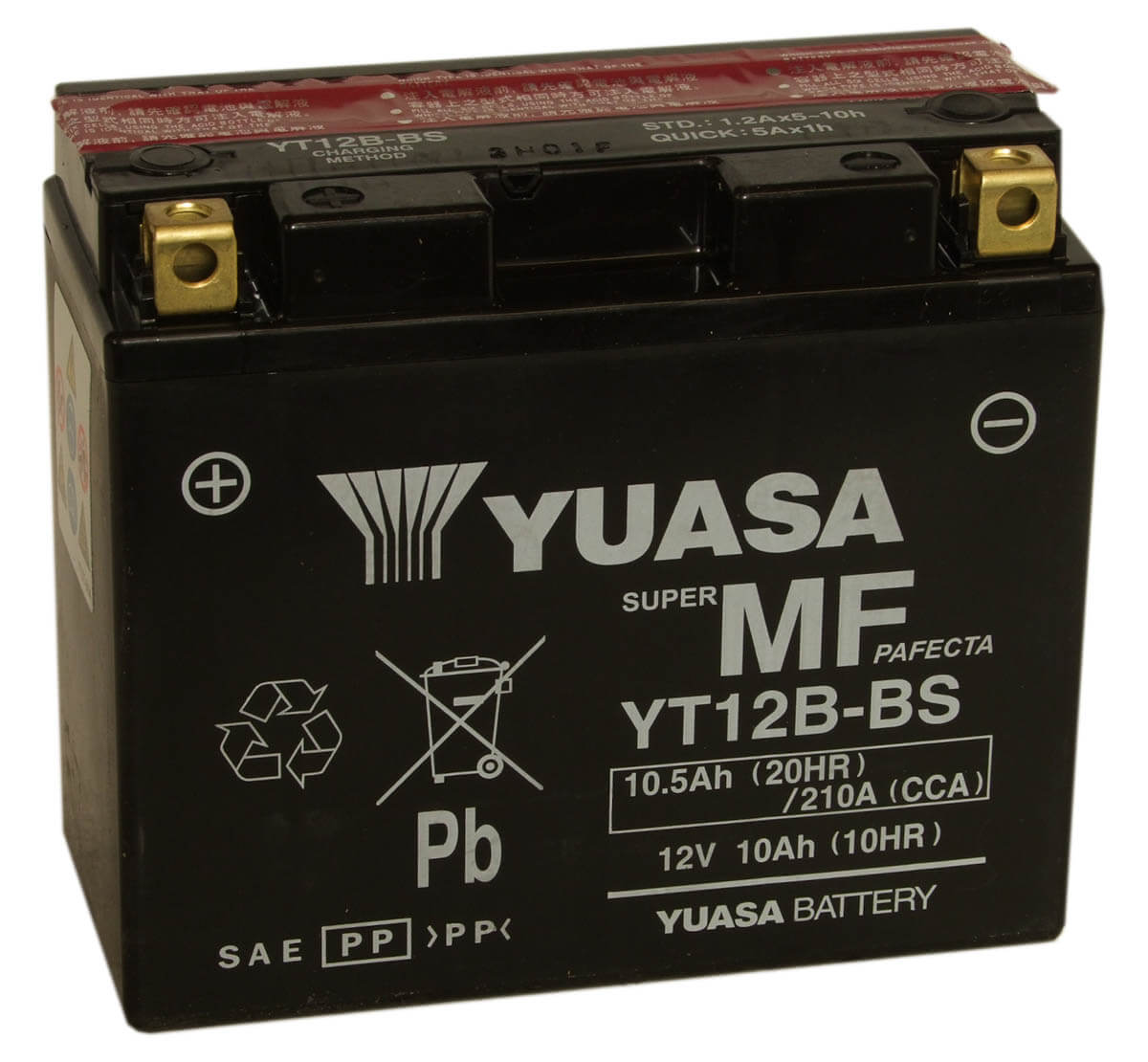 yt12b 4 yt12b bs yuasa motorcycle battery ct12b 4 for fazer fzs 600 and more mds battery. Black Bedroom Furniture Sets. Home Design Ideas