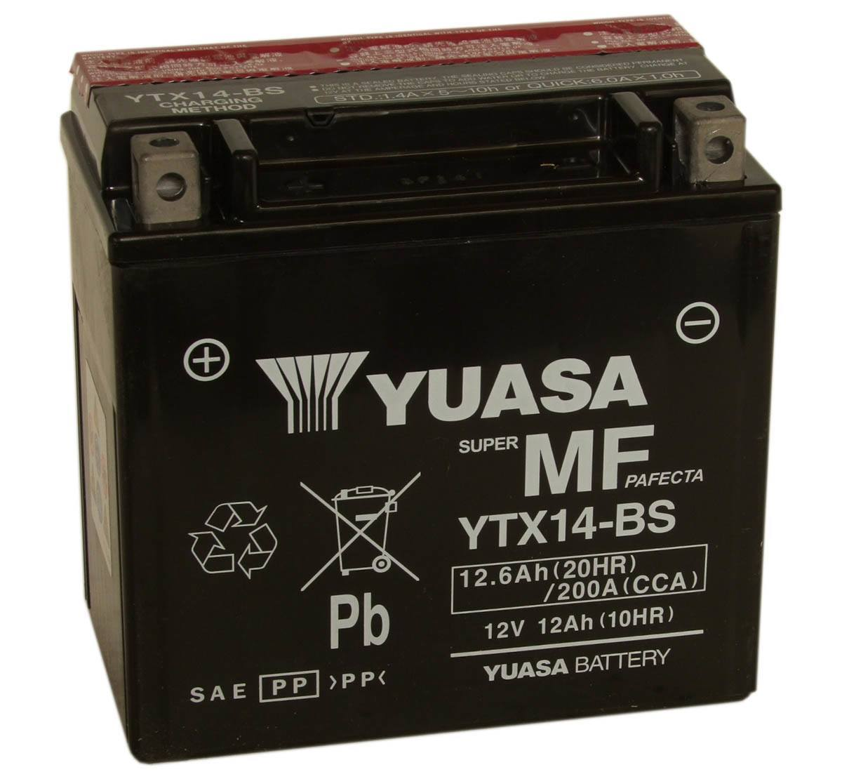 Yuasa YTX14-BS 12V Motorcycle Battery