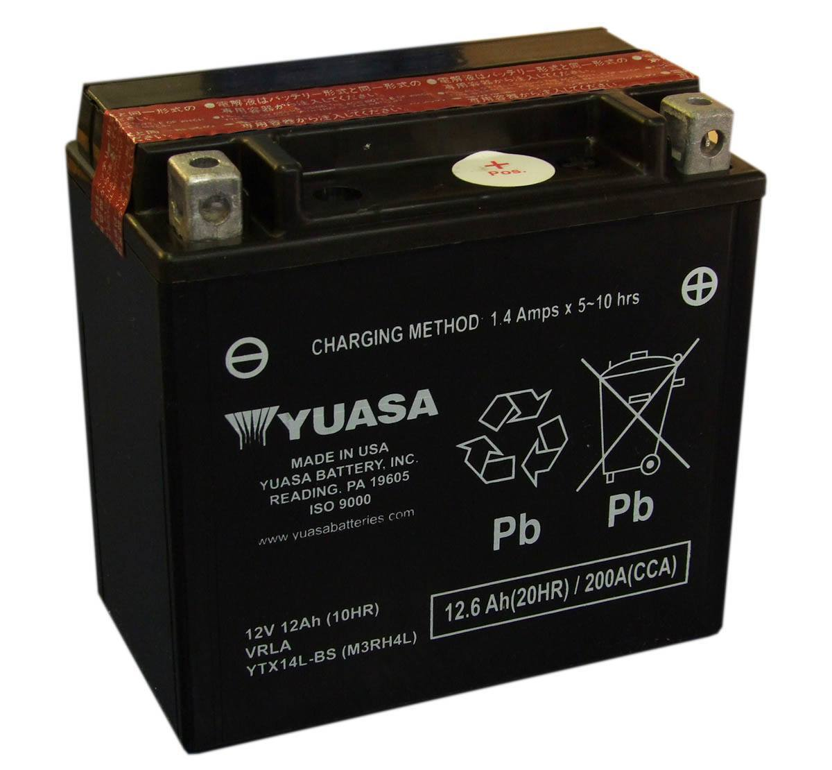 yuasa ytx14l bs motorcycle battery for the harley davidson. Black Bedroom Furniture Sets. Home Design Ideas