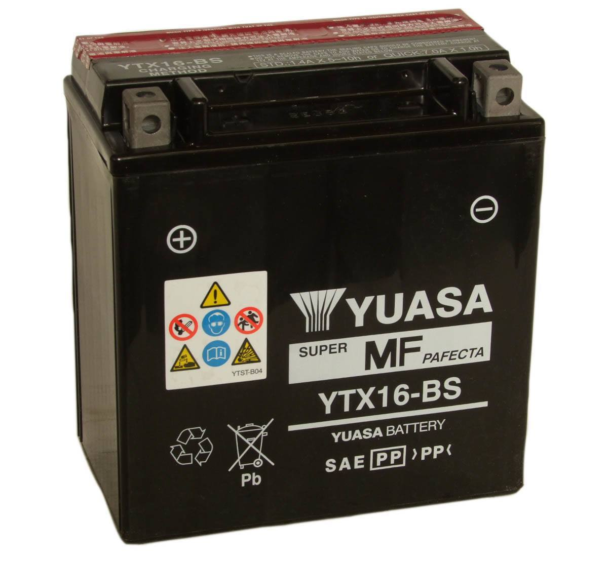 Yuasa YTX16-BS 12V Motorcycle Battery