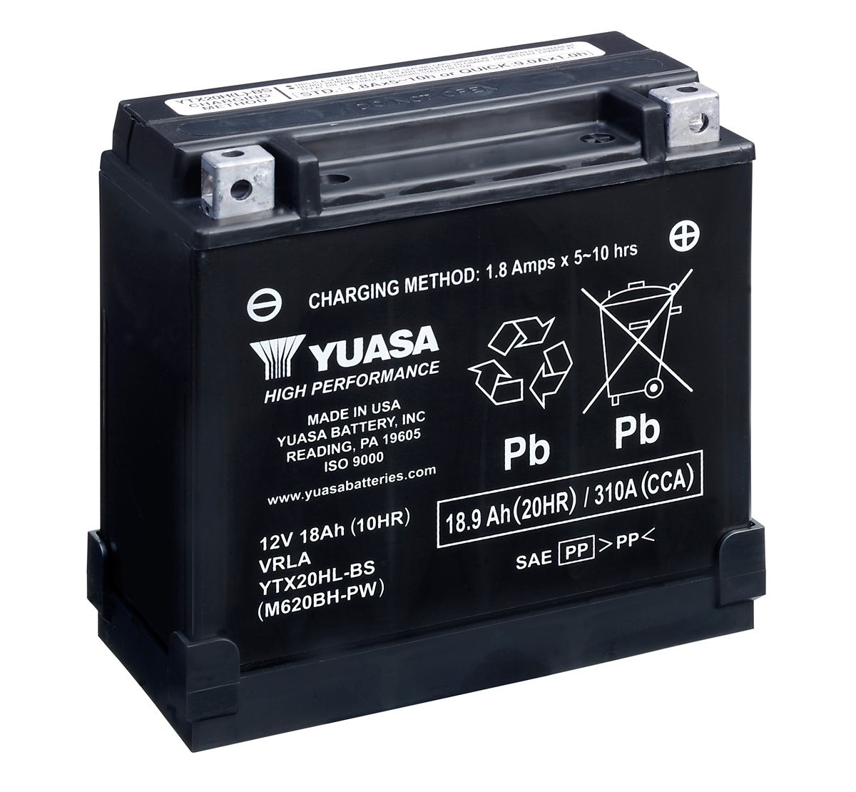 Yuasa YTX20HL-BS-PW Motorcycle Battery