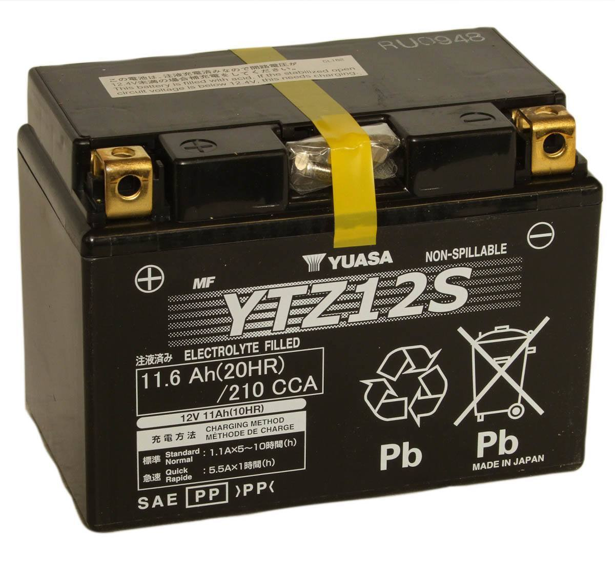 Ytz12s Bs Motorbike Gel Batteries For The Honda Xl650v Transalp Etc