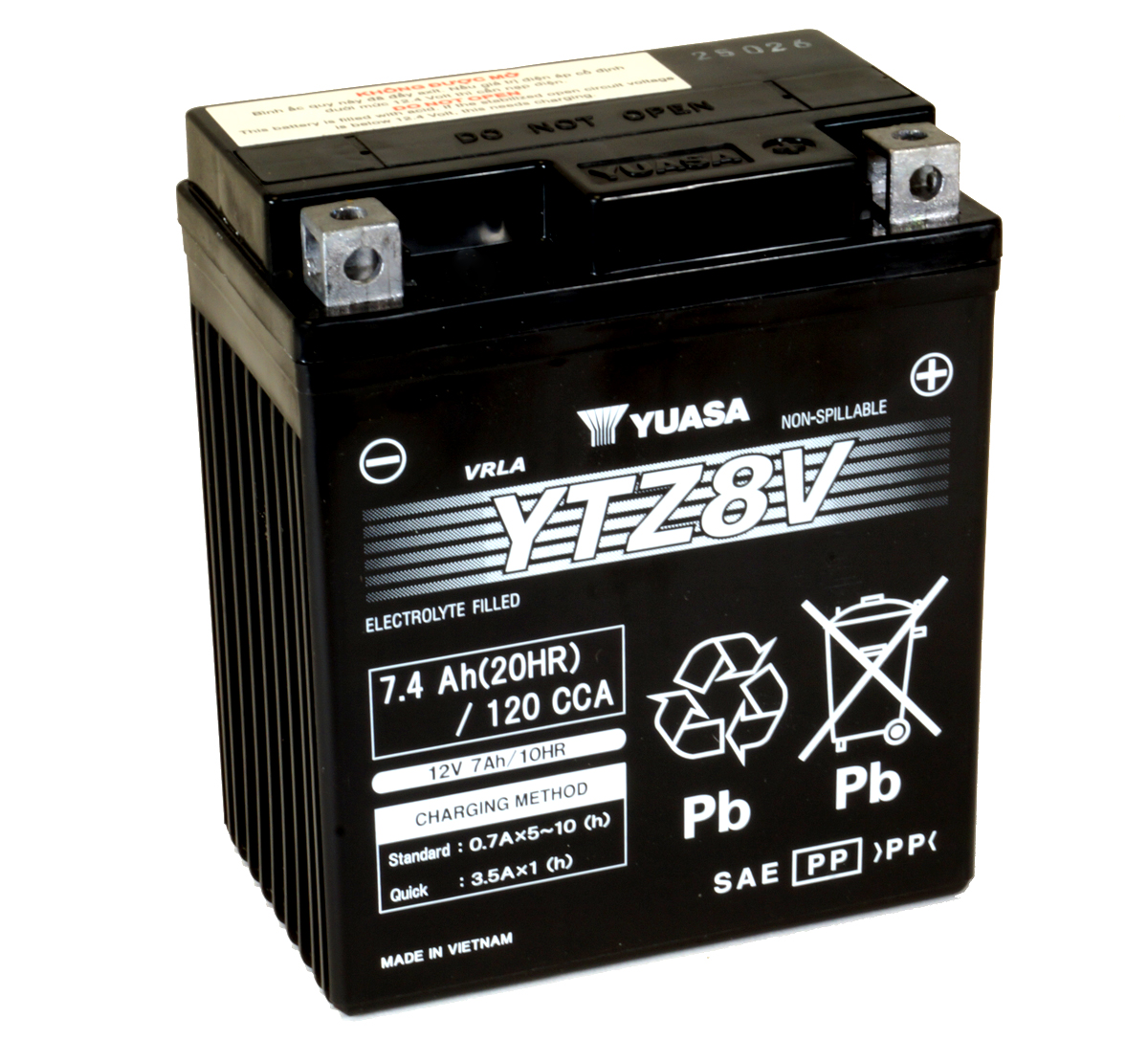 Yuasa YTZ8V 12V 7.4Ah High Performance Motorcycle Battery