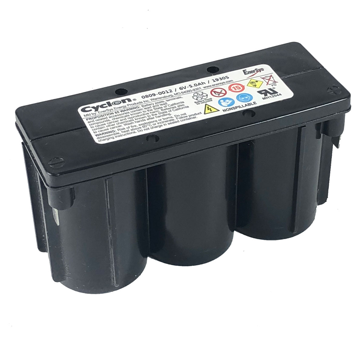 Enersys Hawker 0809-0012 Cyclon 6V 5Ah Monobloc Battery
