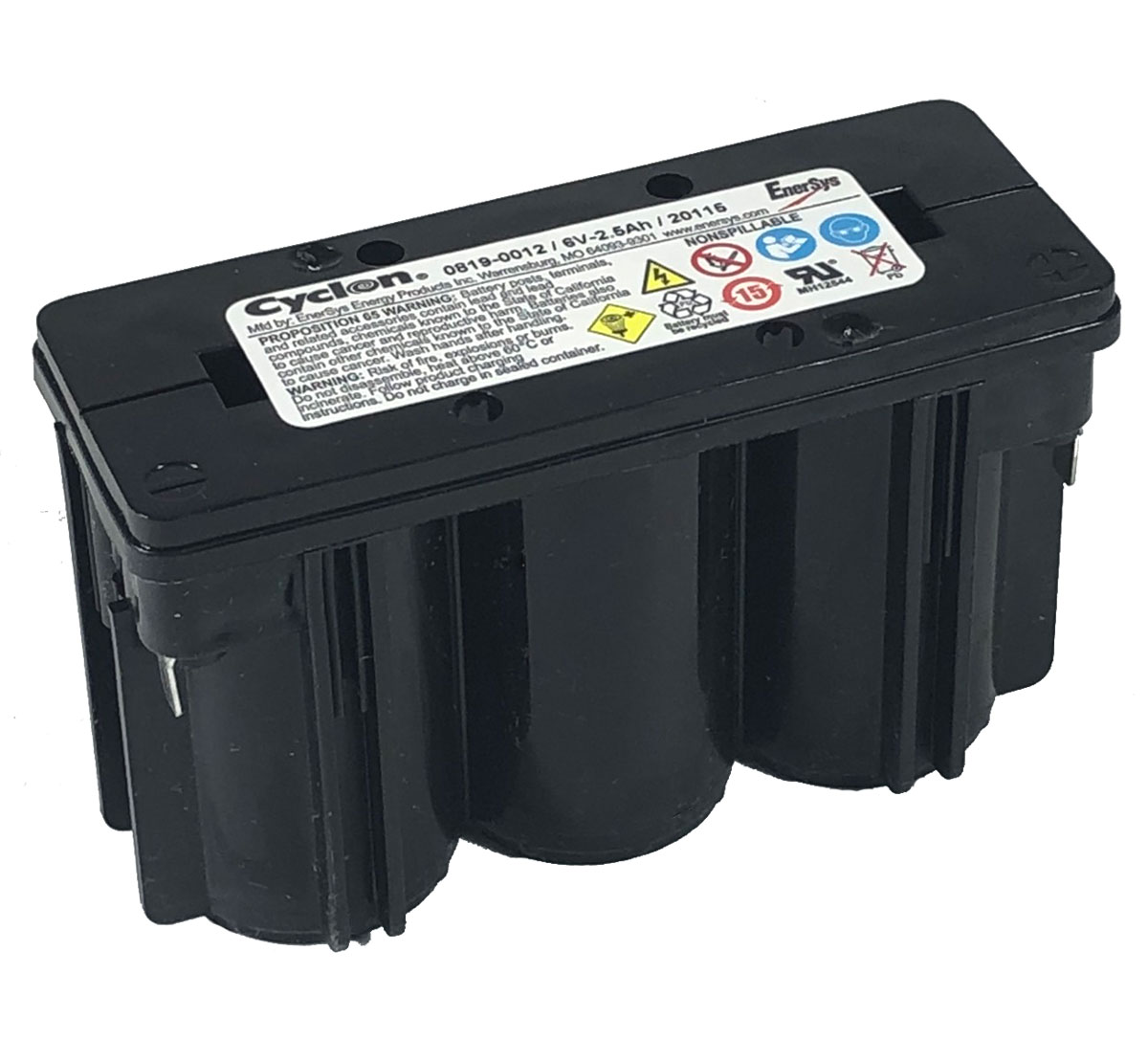Enersys Hawker 0819-0012 Cyclon 6V 2.5Ah Monobloc Battery