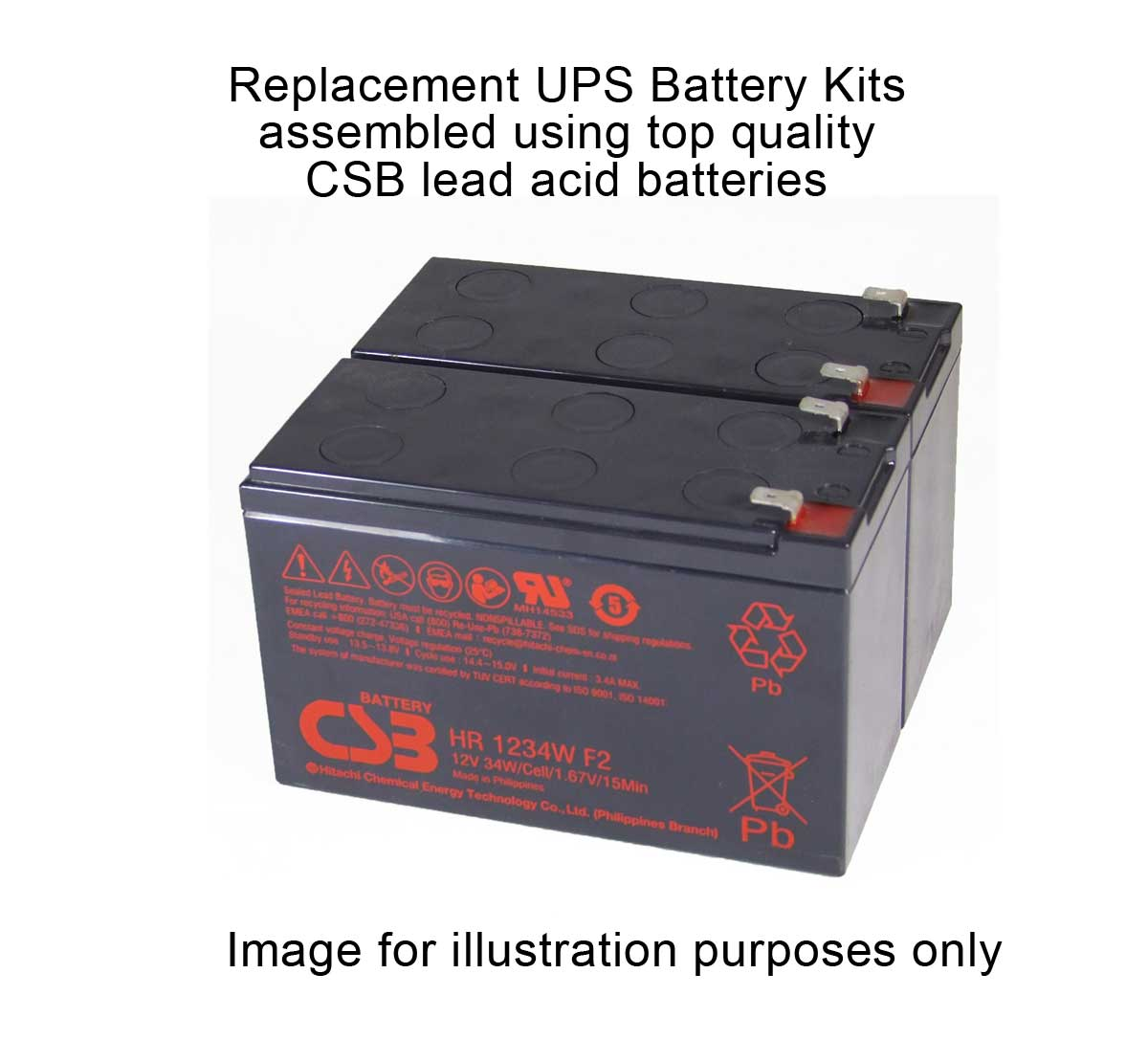 MDS1042 UPS Battery Kit for MGE AB1042