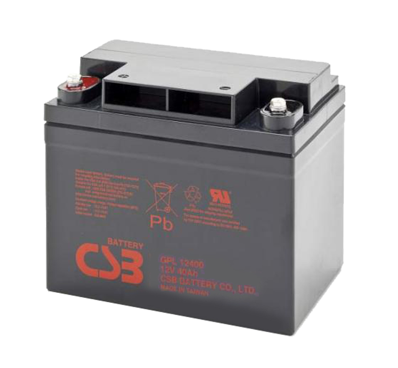 CSB GPL12400 12V 40Ah Sealed Lead Acid Battery