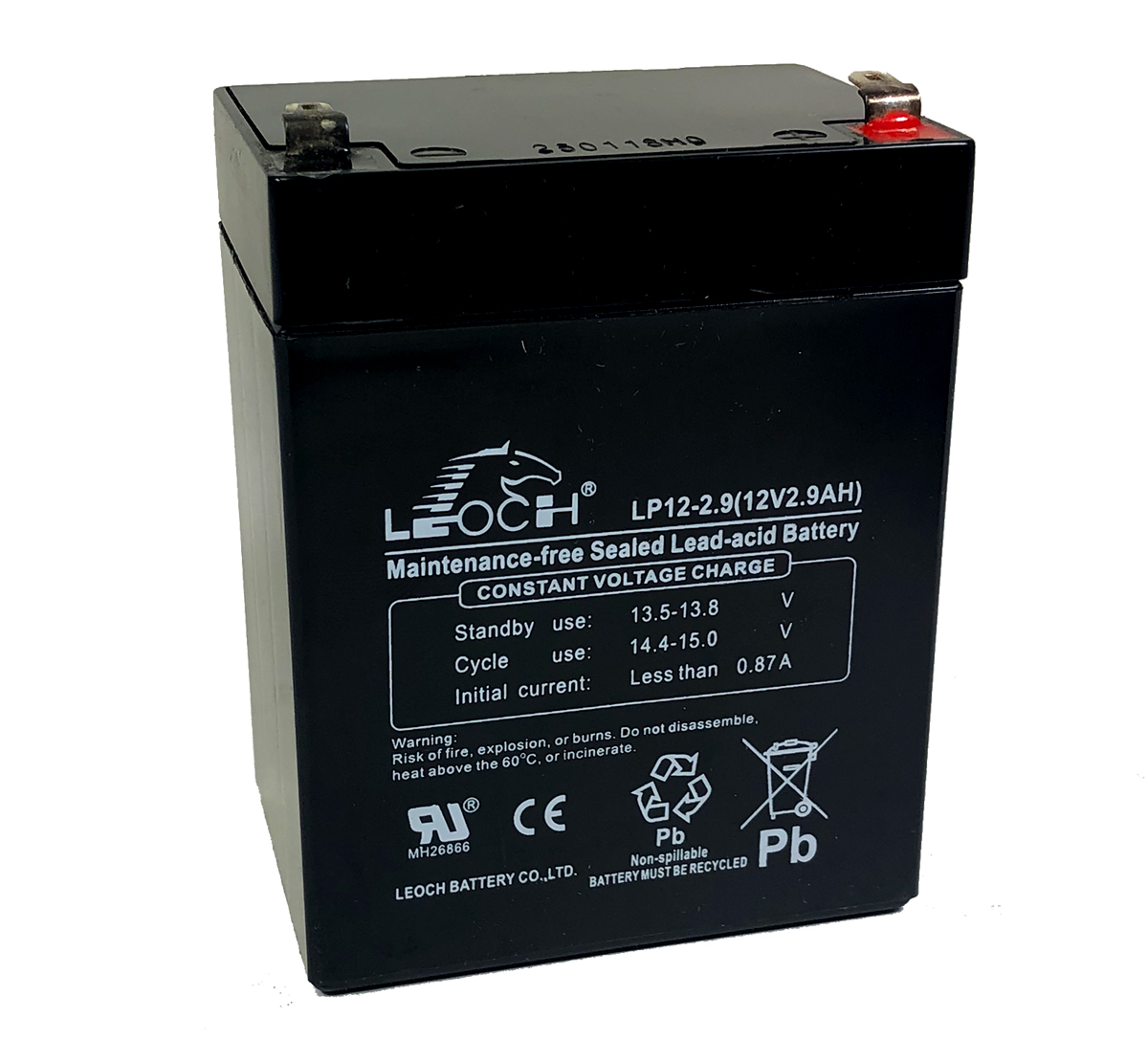 Leoch LP12-2.9 12V 2.9Ah Lead Acid Battery