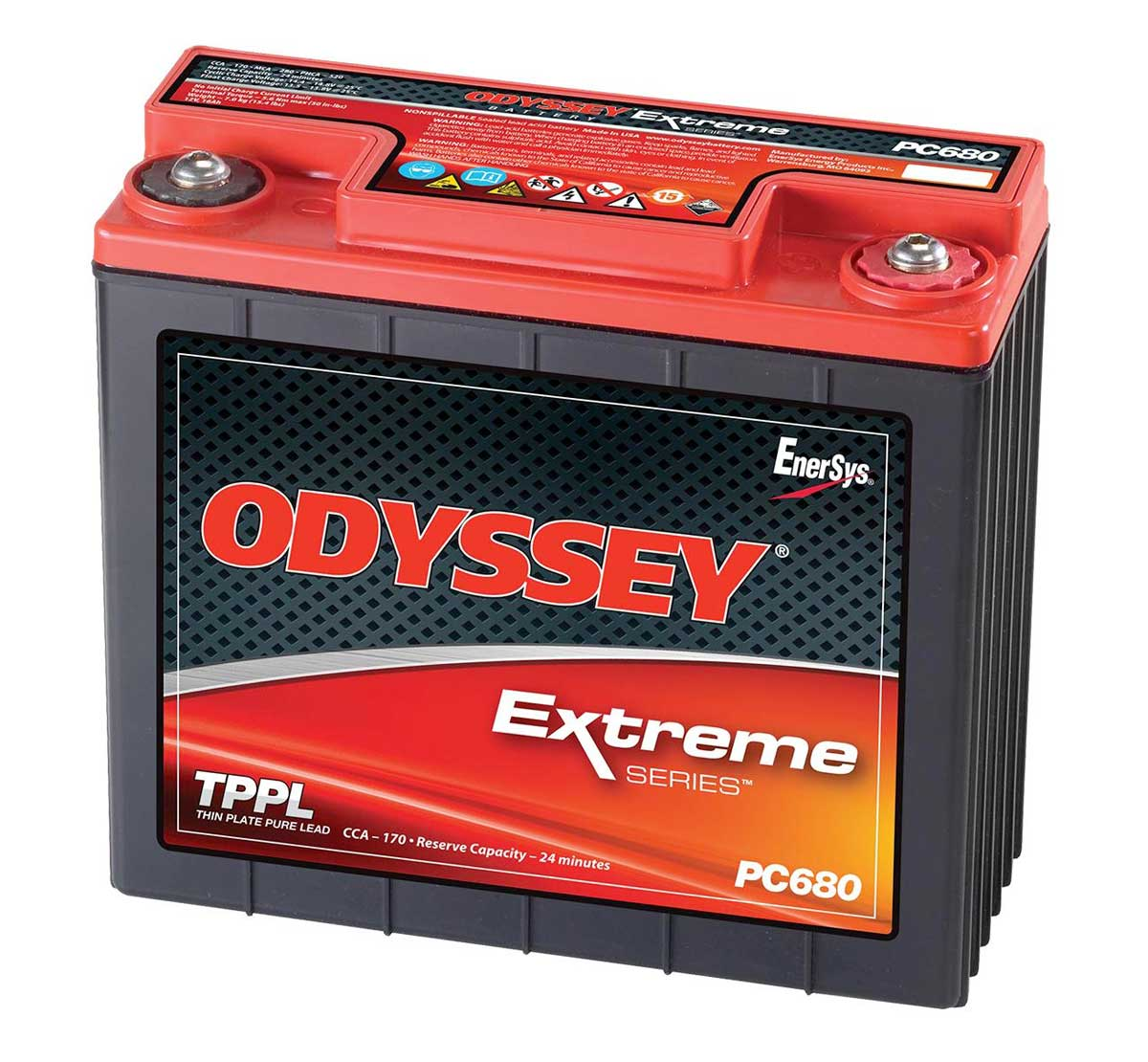 Odyssey Pc680 Extreme Racing 25 Starter Battery  Free Delivery