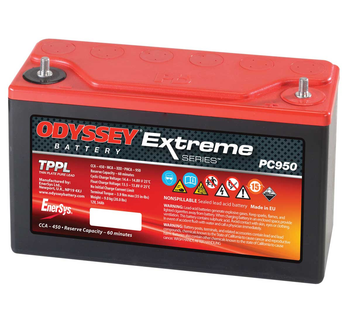 Odyssey PC950 Extreme Racing 30 Starter Battery