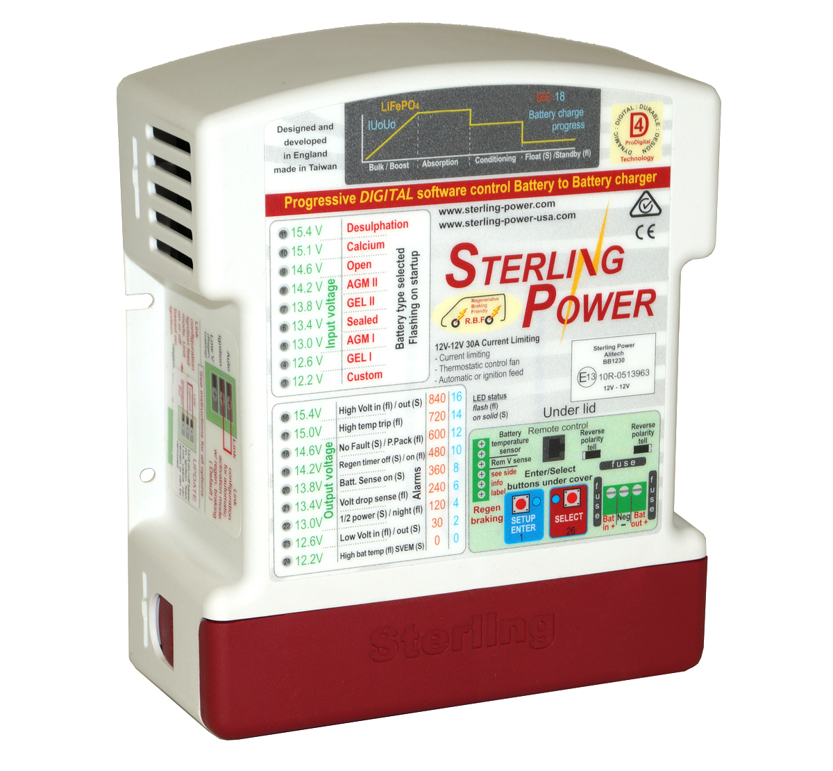 Sterling Power 12V 30A Battery to Battery Charger BB1230
