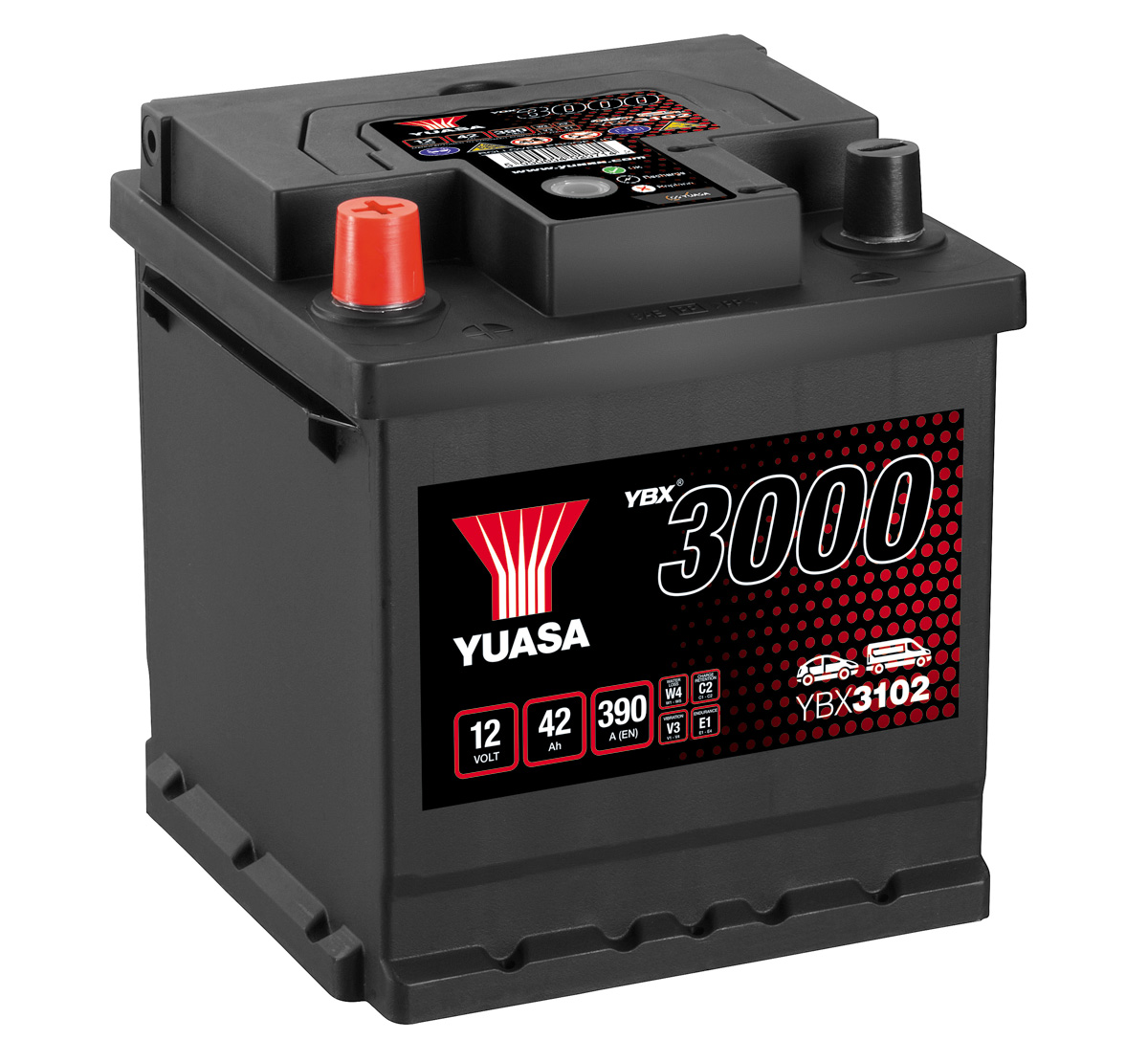 Yuasa YBX3102 102 Type 12V 40Ah Car Battery