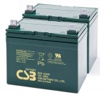 Pair of CSB EVX12340 12V 34Ah Mobility Scooter Batteries
