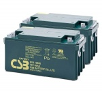 2 X CSB EVX12650 12V 65Ah Mobility Scooter Batteries