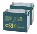 2 X CSB EVX12750 12V 75Ah Mobility Scooter Batteries