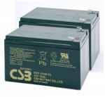 2 x CSB EVX12120 12V 12Ah Mobility Scooter Batteries