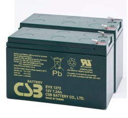 Pair of CSB EVX1272 F2 12V 12Ah Mobility Scooter Batteries