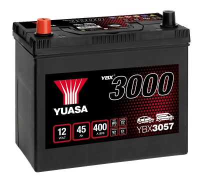 Yuasa YBX3057 057 Type 12V 45Ah Car Battery