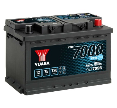 Yuasa YBX7096 12V EFB Stop Start Car Battery