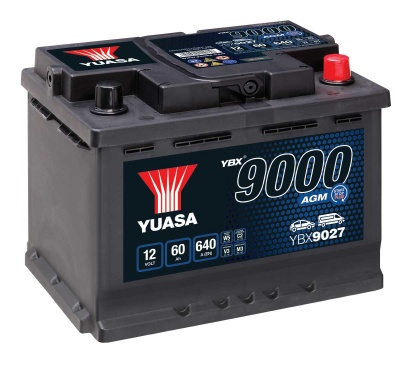Yuasa YBX9027 AGM 12V 027 Car Battery