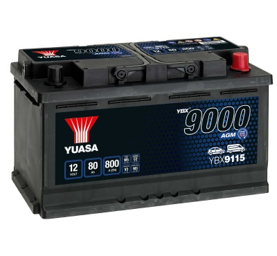 Yuasa YBX9115 AGM 12V 115 Car Battery