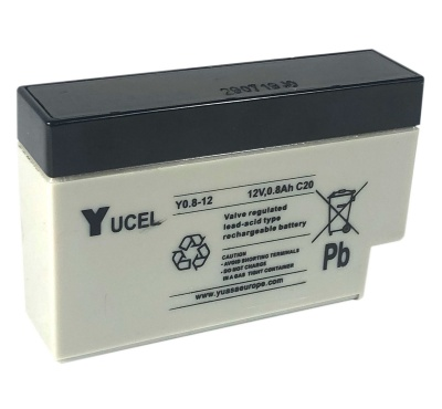 Yucel Y0.8-12 0.8Ah VRLA Lead Acid Battery
